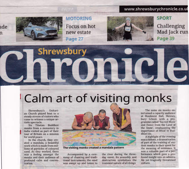 20191114 shrewsbury chronicle monks of tibet